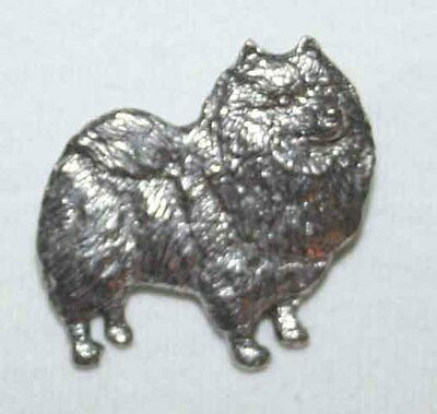 KEESHOND Dog Harris Fine PEWTER PIN Jewelry Art USA Made