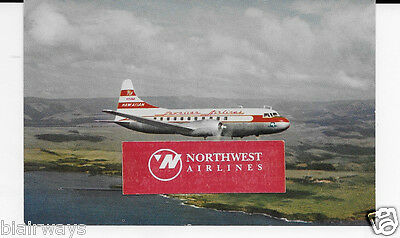 Hawaiian Airlines Convair 340 44 Passenger Inter-Island At 300 Mph Postcard