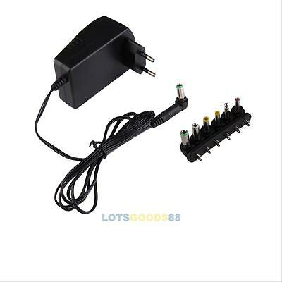 2.5V AC/DC 3 4.5 6 7.5 9 12V Wall Charger Power Supply ADAPTER Cord Universal #L