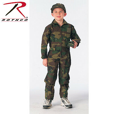 Rothco 7308 Kids Air Force Type Flightsuit - Woodland Camo