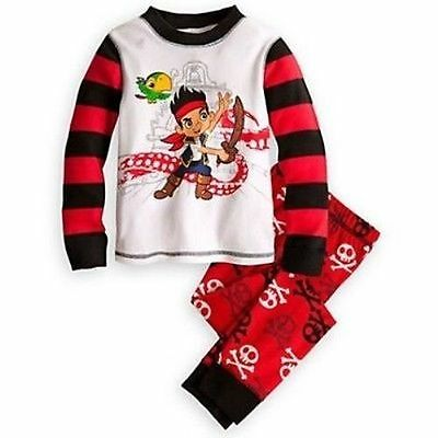 Disney Store Jake And The Never Land Pirates 2PC Tight Fit Pajama Set Boy Size 8