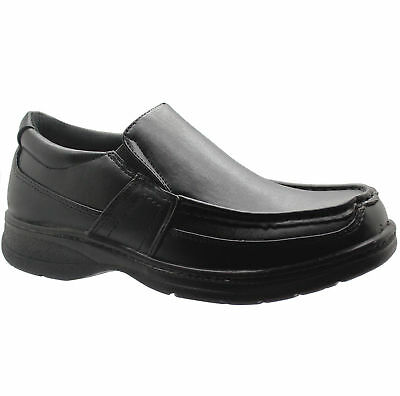 New Mens Black Comfort Xtra Slip On Shoes Formal Dress Office Work Casual Sizes