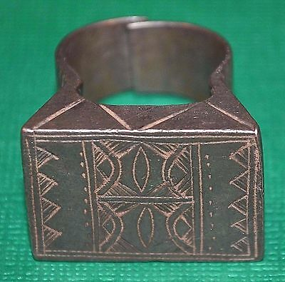 Antique Heavy African Tuareg Tribe Ethnic Tribal Ring Niger, Africa Ring Size 10