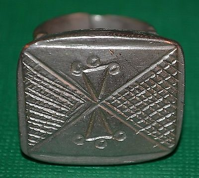 African Antique Heavy Tuareg Ethnic Tribal Ring Niger, Africa - Ring Size 8 1/2