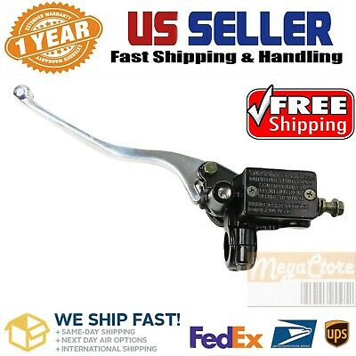 Left Side Hydraulic Rear Brake Master Cylinder Clutch Scooter Moped Dirt ATV GY6