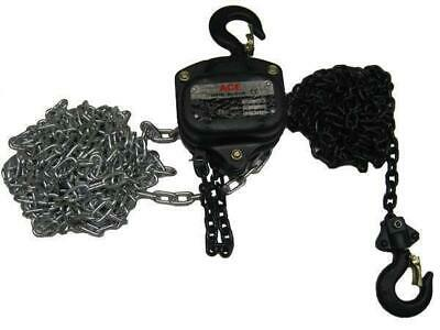 "0.5 Ton 3 Metre Chain Block - 500KG Lift Manual 1/2"" Hand Hoist Tackle Brake"
