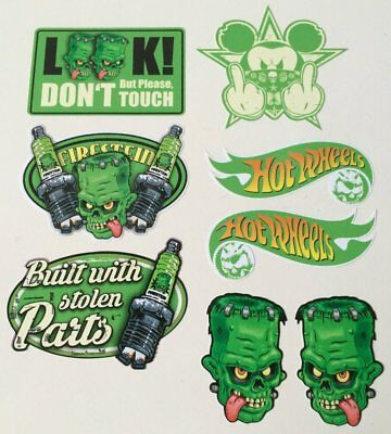 8er Oldschool Aufkleber Set Frankenstein US Cars Sticker USA Retro Vintage Maus