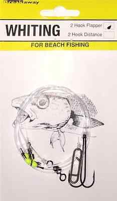 NEW Breakaway Sea Fishing Tackle 2 Hook Flapper Whiting Rig