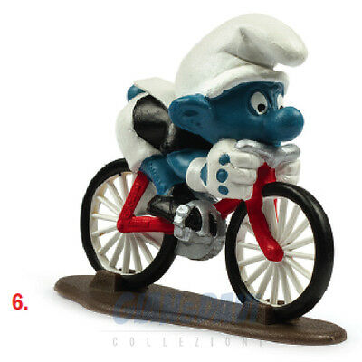 PUFFO PUFFI SMURF SMURFS SCHTROUMPF 4.0501 40501 Cyclist Ciclista 6A