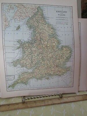 Vintage Print,ENGLAND+WALES #2,Map,Dodd Mead,1907