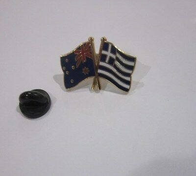 Australia & Greece Flags Friendship Flag Pin Badge