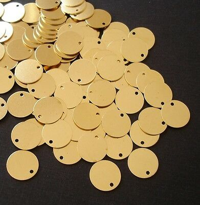 20-Geometrical Raw Brass Disk Stamping  Pendant Jewelry Findings.