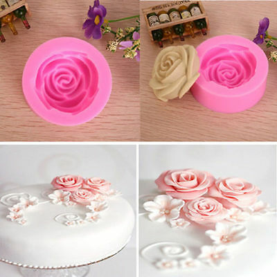 Silicone 3D Rose Flower Cutter Mold For DIY Fondant Cookie Cake Baking