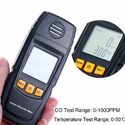 Portable LCD Carbon Monoxide Detector Meter CO Gas Analyzer with Warning Sound