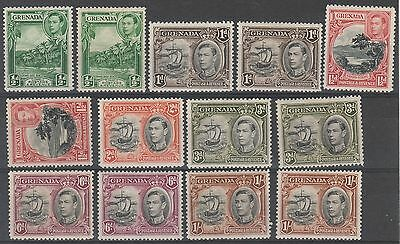 Grenada 1938 Kgvi Pictorial 1/2D To 1/- Including Perfs