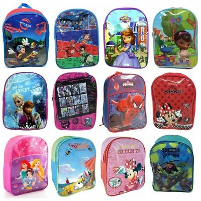 Disney Character Childrens Kids Junior Back To School Backpack Rucksack Bag