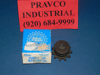 "Martin Sprocket 35BS11 1 Roller Chain Sprocket 11 Teeth 3/8""(.375"") Bore"