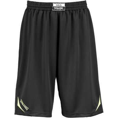 Spalding Attack Shorts Basketballhose Basketball Short Hose schwarz/neongelb
