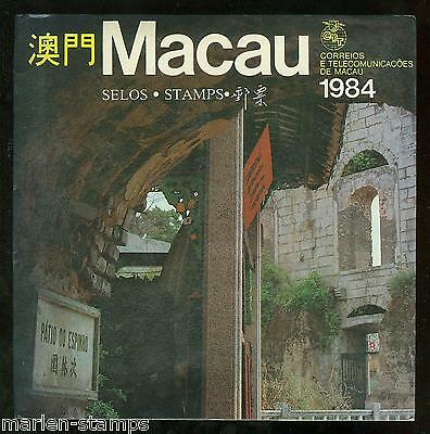 Macau 1984 Year Folder With Stamps  As Issued Shown