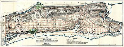 Map Antique 1807 Knapp North Manhattan New York City Repro Poster Print Pam1670