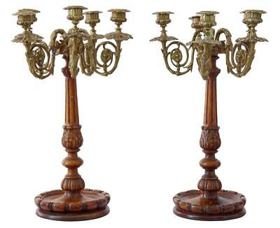 Pair Of 19Th Century French Walnut Candelabra