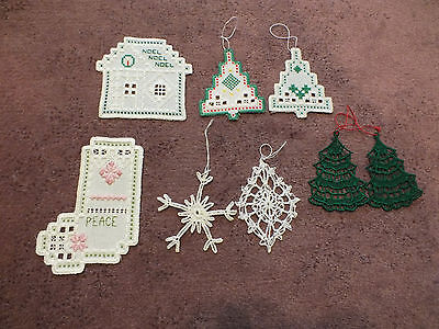 Collectible Norwegian Hardangar Ndlpt Holiday Ornament Set 8- 3 3/4 to 6 Inch