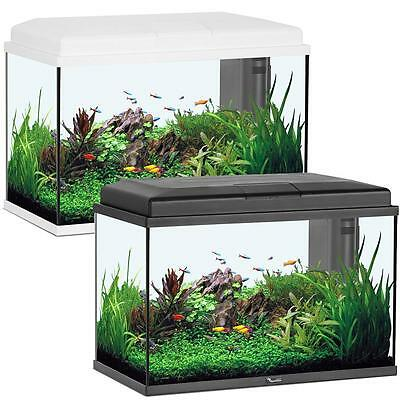 Start 55 Litre Aquarium Fish Tank - Opt. Cabinet - LED Lighting - Black / White