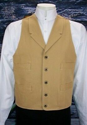 FRONTIER CLASSICS Wheat Old West Frontier Vest SASS Victorian Steampunk