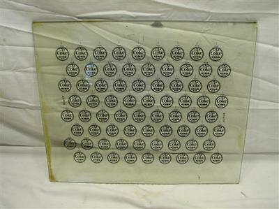 1950s King Size Coca Cola Soda Bottle Cap Factory Glass Printing Plate Ill