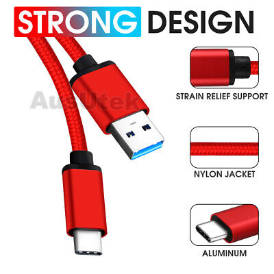 2x STRONG USB Type C Cable Charge For Samsung Galaxy S10 S9 Huawei P20 P30 Pro
