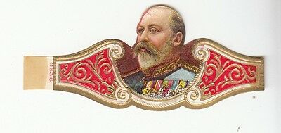 [54966] Circa EARLY 1900's CIGAR BAND EDWARD VII OF GREAT BRITAIN SILHOUETTE