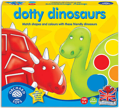 Orchard Toys DOTTY DINOSAURS Baby/Toddler/Child Matching Game Colours BN