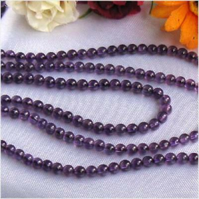 15.5inch 4mm Natural Amethyst Round Gemstone Loose Bead