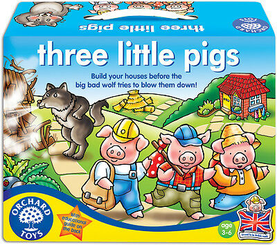 Orchard Toys THREE LITTLE PIGS Baby/Toddler/Child Board Game Fairytale - New
