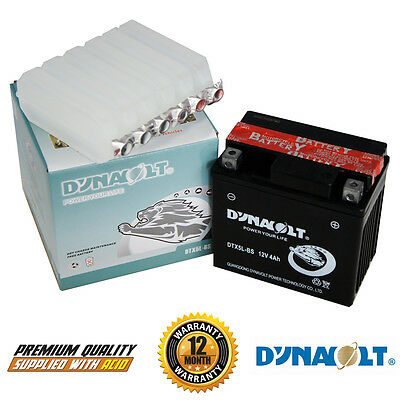 Genuine Dynavolt YTX5L-BS YTX5LBS Motorcycle Battery 12 Months Warranty