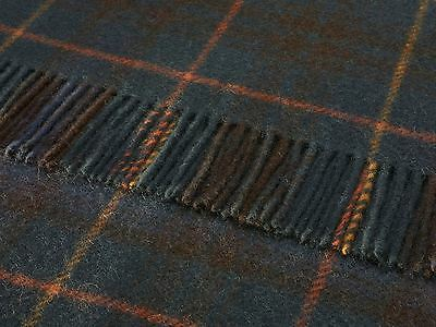 WOOL PICNIC BLANKET Antique Hunting Stewart TARTAN THROW RUG British made Bronte
