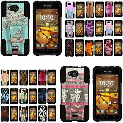 276467c691839f Case for Kyocera Hydro Wave Shell Silicone Stand Image Designs Cute Cool