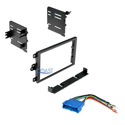 Double DIN Installation Car Stereo Dash Multi-Kit w/ Harness for GM 1990-2012