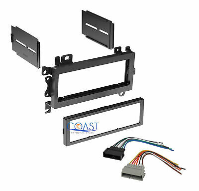 Single DIN Install Car Stereo Dash Kit w/harness for 1984-2001 Dodge