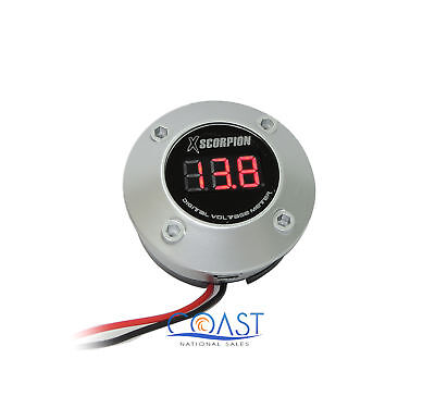 Xscorpion DVM3RS 3-Digit Digital Voltage Red LED Display Round Meter