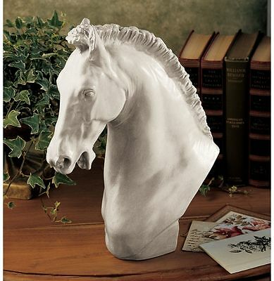 Pure Power and Grace Stallion Bust Statue Equestrian Sculpture Horse