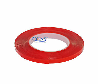 """1/4"""" Multi-Purpose Thin Super Sticky Double-Sided Clear Tape 33 feet DSCT-14"""