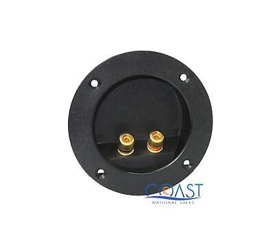 """Round Screw-in Speaker Terminal Cup 4"""" w/Binding Post for Car/ Home Audio"""