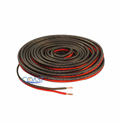 Red 25 Ft True 14 Gauge AWG Car Home Audio Speaker Wire Cable Spool BPES14.25