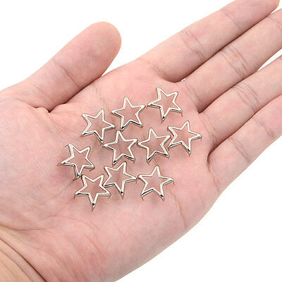 Star Spikes Studs Rivets 15mm Leathercraft DIY Accessories Spot Sliver Punk New