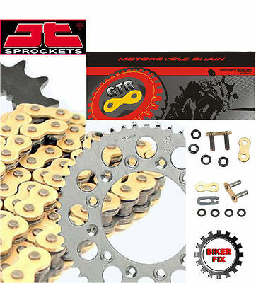 Triumph 675 Street Triple 2008-16 Gold Heavy Duty X-Ring Chain and Sprocket Kit