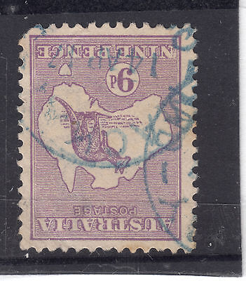 BW 25a 9d Kangaroo 2nd Wmk INVERTED FU (ONLY 24 KNOWN ) Sl. faults CAT$5000 ..