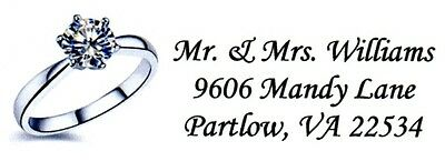 Silver Engagement Ring Address Labels