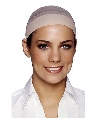 Wig Cap Hat Hair Beige Nude Lightweight Nylon Stretch Elastic Bald Cap
