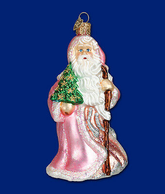 """Caring Santa"" (40246) Old World Christmas Glass Ornament"